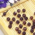 Beads, Selenial Crystal, Crystal, Dark purple , Faceted Rounds, Diameter 4mm, 10 Beads, [ZZC214]